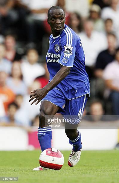 Claude Makelele of Chelsea in action during the Barclays Premiership match between Fulham and Chelsea at Craven Cottage on September 23 2006 London...