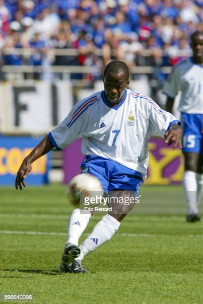 Claude Makelele of France during the world cup match between France and Denmark in Munhak Stadium in Incheon on june 11th 2002