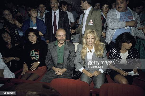 Claude Malhuret and Sylvie Vartan in Paris France on September 14th 1987