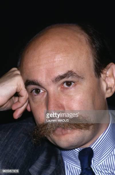 Claude Malhuret lors des journées parlementaires de l'UDF à Nice le 23 septembre 1987, France.