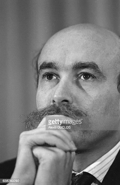 Claude Malhuret lors d'un colloque sur l'Ethiopie à Paris, France, le 29 octobre 1986.