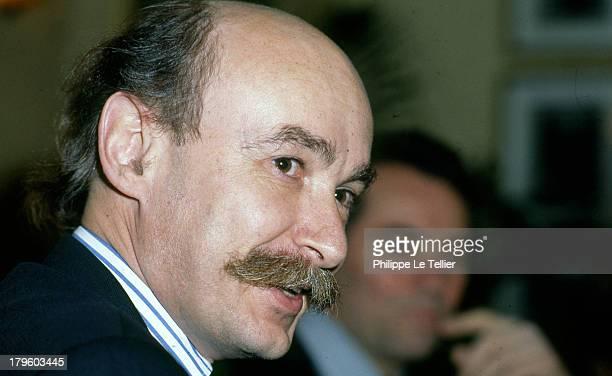 Claude Malhuret mayor of Vichy and depute european 1990, France.