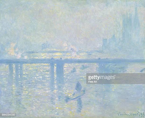 Claude Monet Charing Cross Bridge London oil on canvas 806 x 648 cm Museo ThyssenBornemisza Madrid Spain