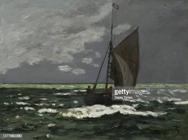 Claude Monet, French, 1840–1926, Seascape, Storm Oil on canvas, 19 3/16 x 25 7/16 in. .