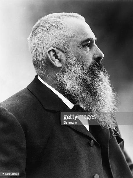 Claude Monet French impressionist painter Head and shoulders profile photo by Nadar undated