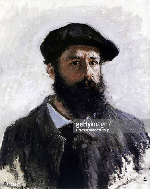 Claude Monet French Impressionist painter Selfportrait in Beret 1886