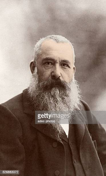 Claude Monet French painter born in Paris En 1899 Coloured photograph