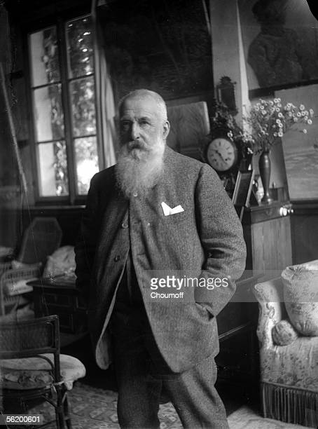 Claude Monet French painter in his house of Giverny