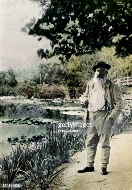 Claude Monet Giverny 1905 Claude Monet French Impressionist painter Monet in his garden at Giverny where he painted in the last years of his life...