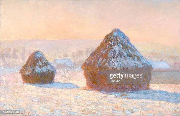 Claude Monet Haystacks Snow Effect Morning oil on canvas 648 x 997 cm The J Paul Getty Museum Malibu California