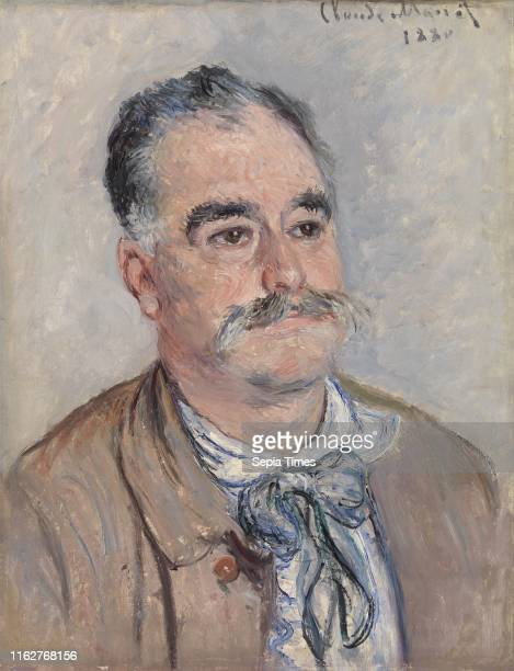 Monsieur Coqueret Claude Monet Oil on canvas This is Narcisse Coqueret a compass maker and early collector of Monet's work Coqueret owned a factory...