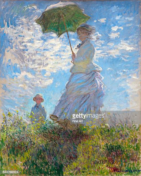 Claude Monet Woman with a Parasol Madame Monet and Her Son oil on canvas 100 x 81 cm National Gallery Washington DC