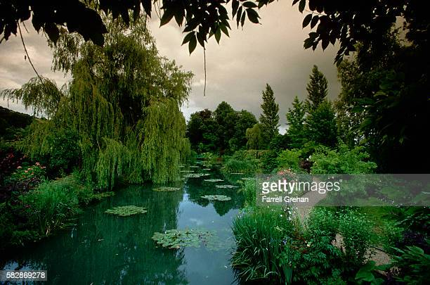 claude monet's garden at giverny - water garden stock pictures, royalty-free photos & images
