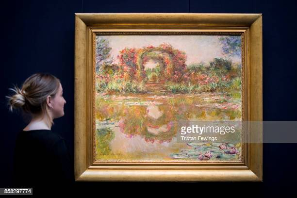 Claude Monet's Les Arceaux de roses Giverny goes on view as part of Sotheby's Contemporary Impressionist New York TRAVEX highlights preview at...