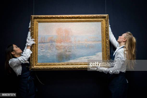 Claude Monet's Les Glacons Bennecourt goes on view as part of Sotheby's Contemporary Impressionist New York TRAVEX highlights preview at Sotheby's on...