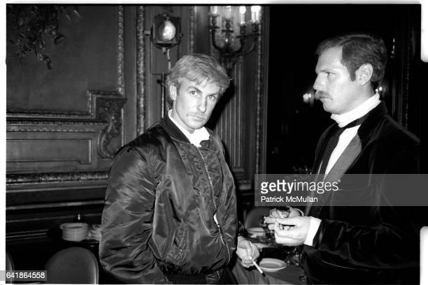 Claude Montana and Butz at the Metropolitan Club Party for the Best December 1983