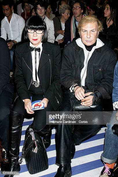 Claude Montana and Chantal Thomass at the Jean Charles de Castelbajac Spring/Summer 2008 collection during Paris Fashion Week