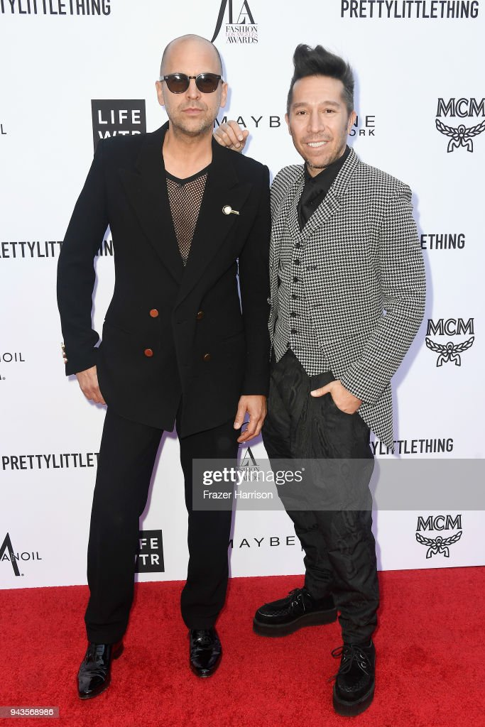Claude Morais (L) and Brian Wolk attend The Daily Front Row's 4th Annual Fashion Los Angeles Awards at Beverly Hills Hotel on April 8, 2018 in Beverly Hills, California.