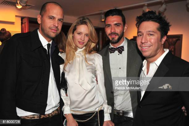 Claude Morais Julie Ordon Lorenzo Martone and Brian Wolk attend THE RUFFIAN BOYS Host a Caviar and Champagne Dinner at Michaels West 55th St on...