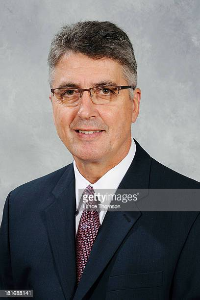 Claude Noel of the Winnipeg Jets poses for his official headshot for the 20132014 season on September 11 2013 at the MTS Centre in Winnipeg Manitoba