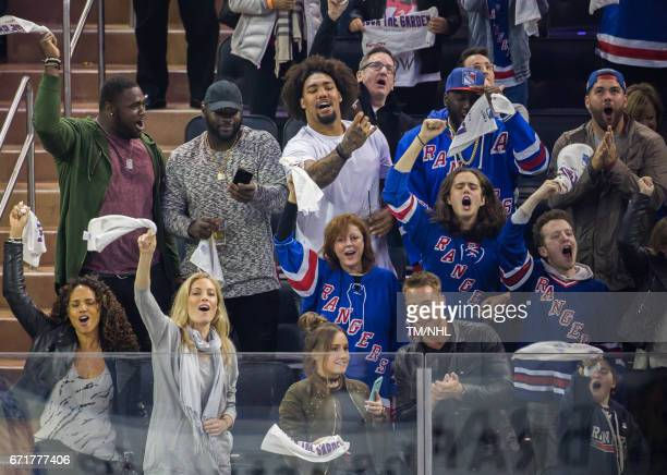 Claude Pelon Anthony Johnson Leonard Williams Muhammad Wilkerson Justin Pugh Jennifer Ohlsson Susan Sarandon and Miles Robbins are seen at Madison...