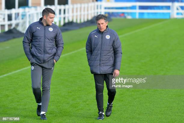 Claude Puel during the Leicester City training session at Belvoir Drive Training Complex on December 22 2017 in Leicester United Kingdom