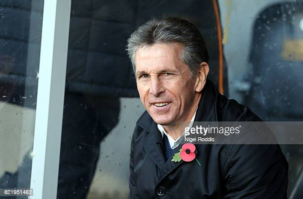 Claude Puel manager of Southampton during the Premier League match between Hull City and Southampton at KC Stadium on November 6 2016 in Hull England