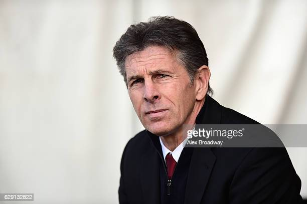 Claude Puel Manager of Southampton looks on during the Premier League match between Southampton and Middlesbrough at St Mary's Stadium on December 11...