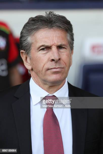 Claude Puel the head coach / manager of Southampton during the Premier League match between West Bromwich Albion and Southampton at The Hawthorns on...