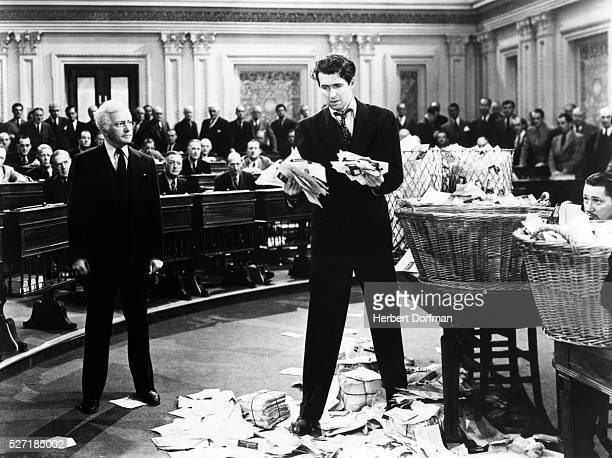 Claude Raines and Jimmy Stewart in Mr Smith Goes to Washington