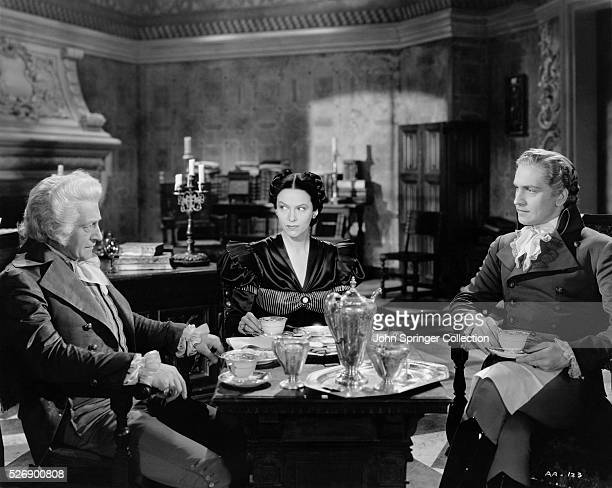 Claude Rains as Marquis Don Luis Gale Sondergaard as Faith Paleologus and Fredric March as Anthony Adverse in the 1936 film Anthony Adverse