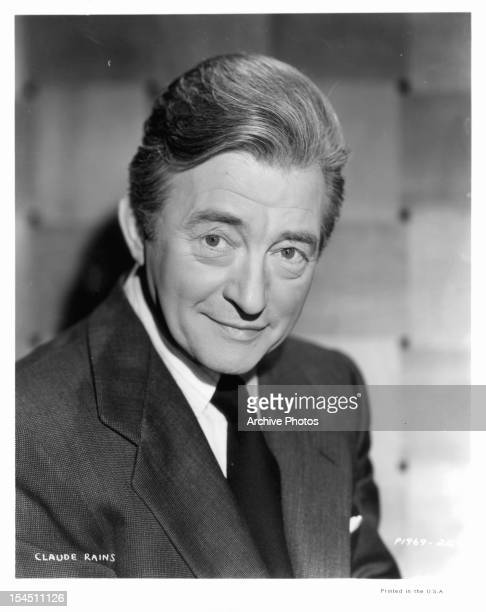 Claude Rains in a publicity portrait the film 'The Paris Express' 1952