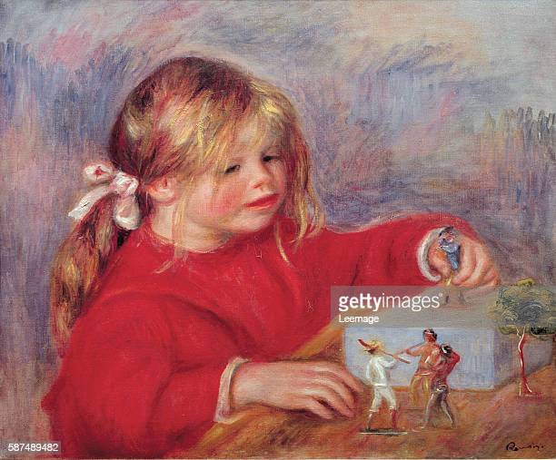 Claude Renoir at Play 1905 by PierreAuguste Renoir 46x55 cms Musee de l'Orangerie Paris France