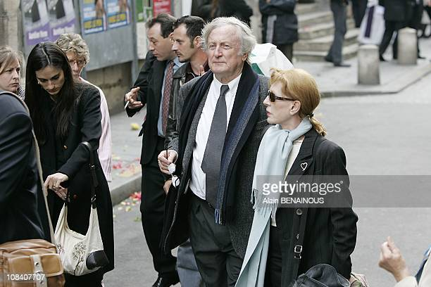 Claude Rich and wife in Paris France on June 04 2007