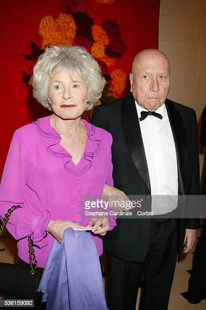 Claude Sarraute and her husband JeanFrancois Revel at the 'La Tour D'Argent' celebration The restaurant served its millionth duck