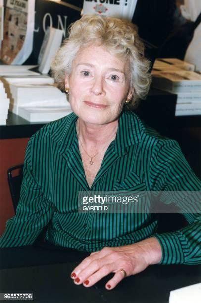 Claude Sarraute au Salon du Livre le 23 mars 1999 à Paris France