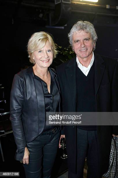 Claude Serillon and Catherine Ceylac attend in Backstage the Laurent Gerra Show at Palais des Sports on December 27 2014 in Paris France