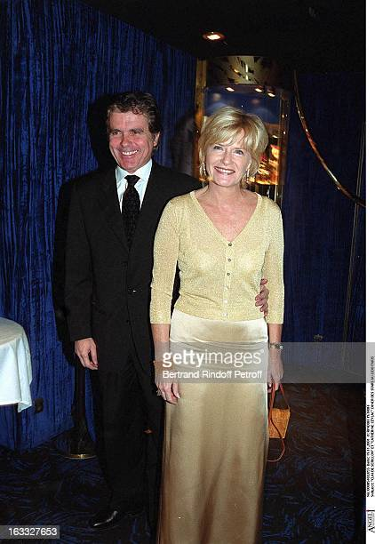 Claude Serillon and Catherine Ceylac Celebrities Dinner event at the Lido in Paris