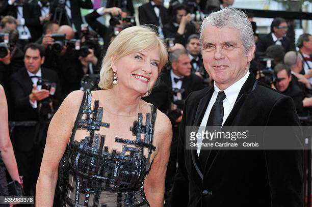 Claude Serillon et Catherine Ceylac at the 'Saint Laurent' premiere during the 67th Cannes Film Festival