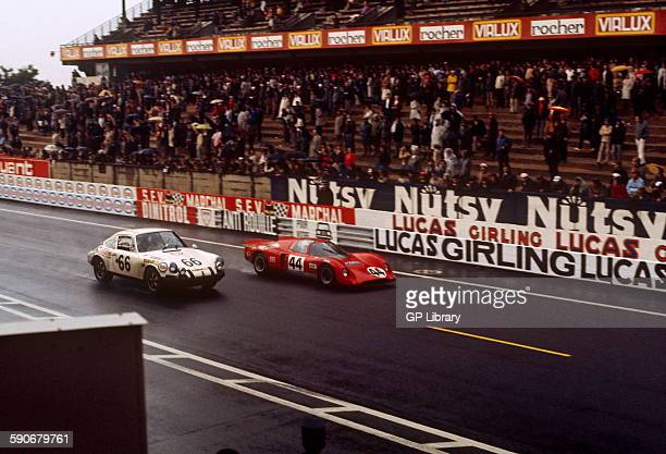 66 Claude Swietlik JeanClaude Lagniez Porsche 911 44 Clive Baker Digby Martland Chevron B16 BMW Le Mans 14 June 1970