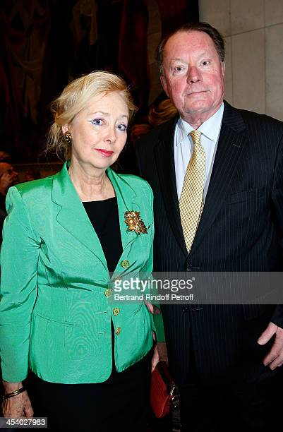 Claude Taittinger with hs wife attending the celebration of 26 Years of Russian French Friendship by the 'Association of the Saint Vladimir' held at...