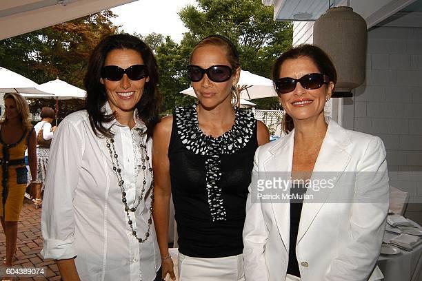 Claude Wasserstein, Tania Bryer and Debra Black attend DOLCE & GABBANA Benefit Luncheon hosted by Jessica Seinfeld, Claude Wasserstein and Stephanie...