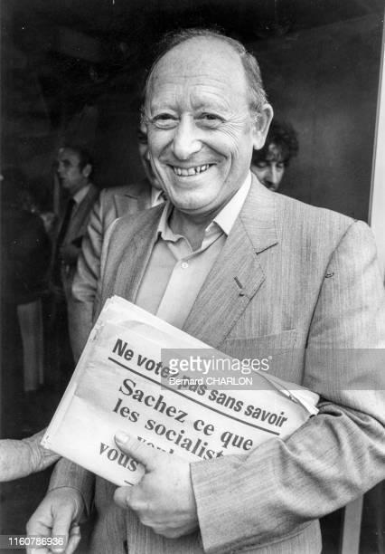 Claude Wolff député UDF à Paris dans les années 80 France Circa 1980