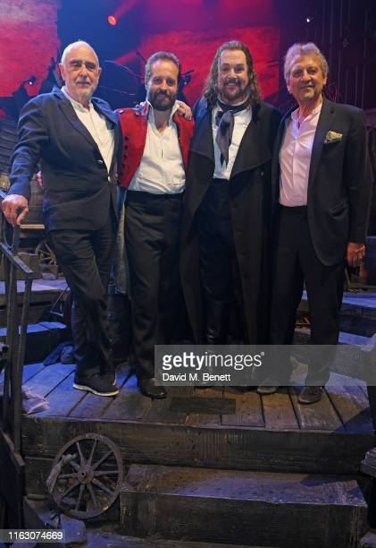 ClaudeMichel Schonberg Alfie Boe Michael Ball and Alain Boublil attend the press night performance of Les Miserables The Staged Concert at The...