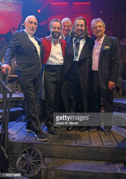 """Claude-Michel Schonberg, Alfie Boe, Sir Cameron Mackintosh, Michael Ball and Alain Boublil attend the press night performance of """"Les Miserables: The..."""