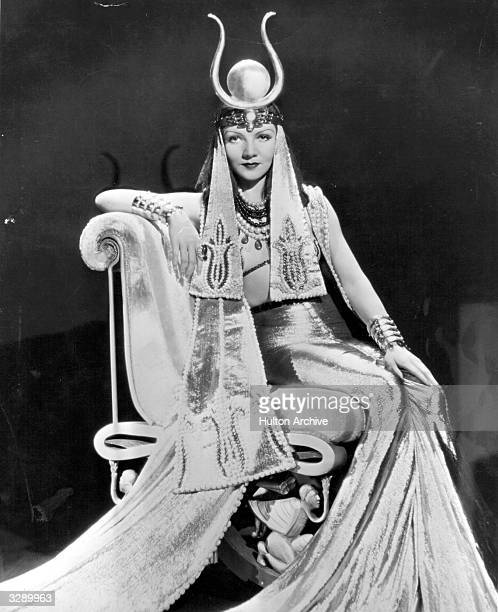 Claudette Colbert as she appears in the title role of Cecil B DeMille's 'Cleopatra' Costume designed by Travis Banton