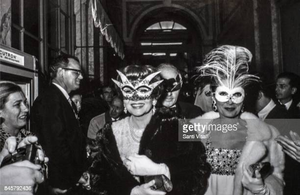 Claudette Colbert at Truman Capote BW Ball on November 28 1966 in New York New York