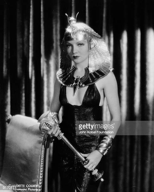 Claudette Colbert plays Egypt's most famous queen in the historical drama 'Cleopatra' directed by Cecil B DeMille