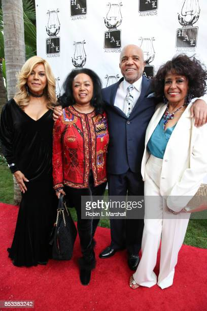Claudette Robinson Susaye Greene Berry Gordy and Scherrie Payne attend the 28th Annual Heroes And Legends Awards at the Beverly Hills Hotel on...