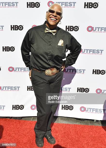 Claudette Sexy DJ Colbert attends 2016 Outfest Los Angeles LGBT Film Festival screening of Jewels Catch One at Harmony Gold Theatre on July 10 2016...